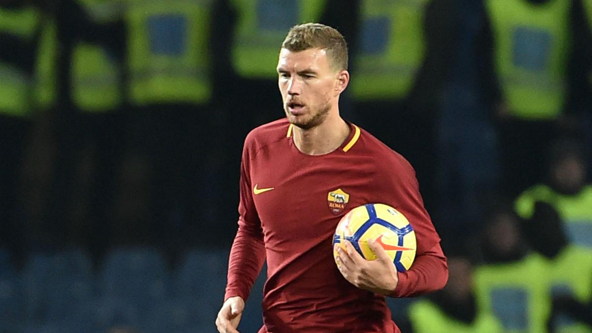 Chelsea target Dzeko will play as long as he's at Roma, Di Francesco claims