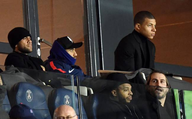 Watching and waiting | PSGs Kylian MBappe during Saturday's Montpellier match.