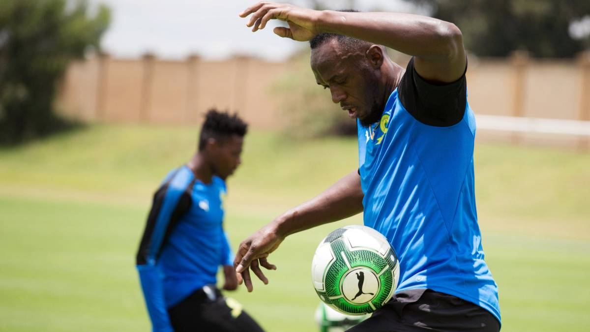 Usain Bolt trains with South African side Mamelodi Sundowns