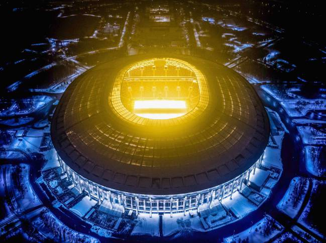 Luzhniki Stadium will host seven matches including the final of the 2018 FIFA World Cup football tournament.