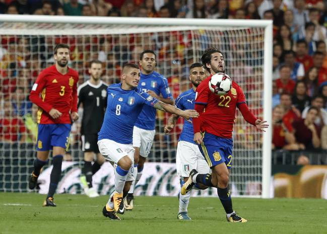 Isco showed his class for Spain against Italy.