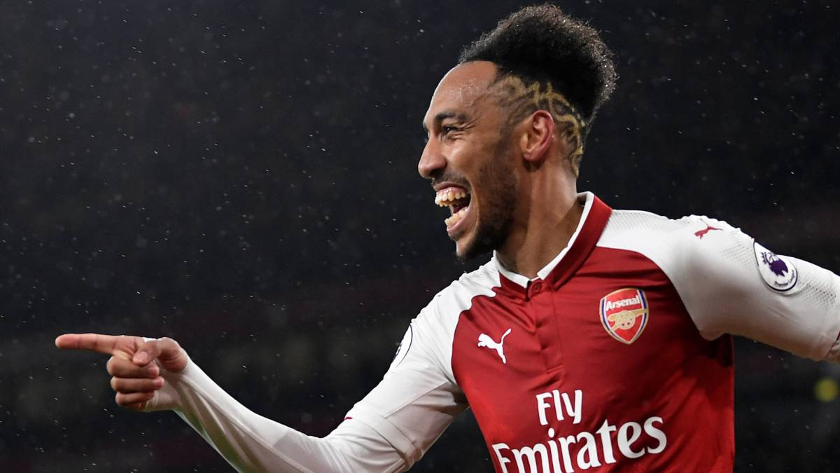 Aubameyang bags first Arsenal goal on debut
