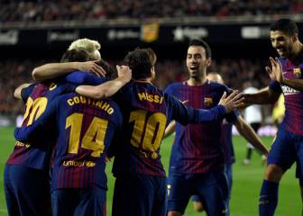 Coutinho hits first Barça goal as holders reach fifth straight final