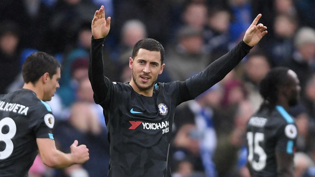 You never know in football - Hazard responds to Madrid speculation
