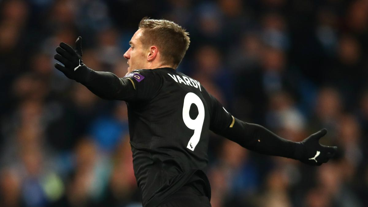 Image result for man city 5-1 Leicester City vardy