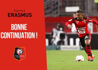 Bafana Bafana striker Kermit Erasmus released by French club Rennes