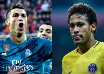 Madrid v PSG: Ronaldo versus Neymar in numbers
