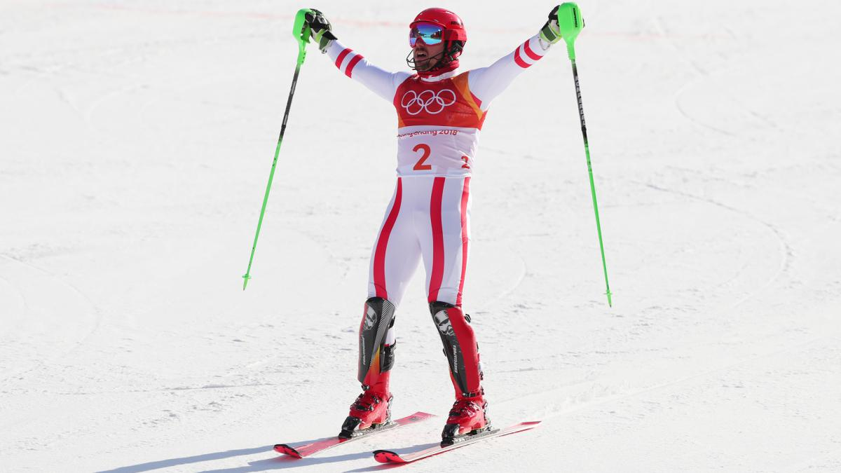 Winter Olympics 2018: 'Dream come true' as Hirscher finally wins gold