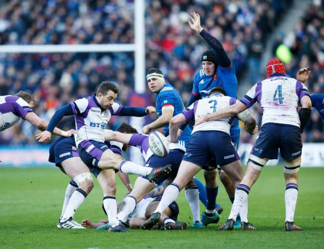 Action from the Six Nations rugby match between Scotland and France at Murrayfield stadium in Edinburgh, Britain, 11 February 2018.