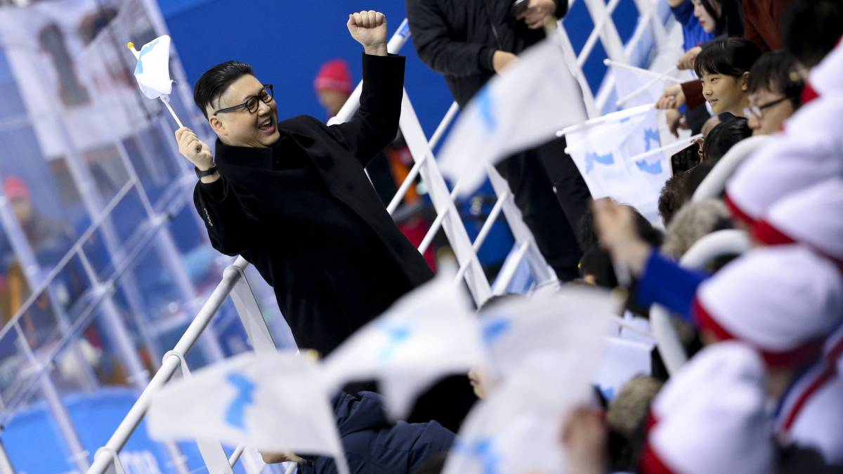 Kim Jong Un lookalike reappears at Winter Olympics' hockey game