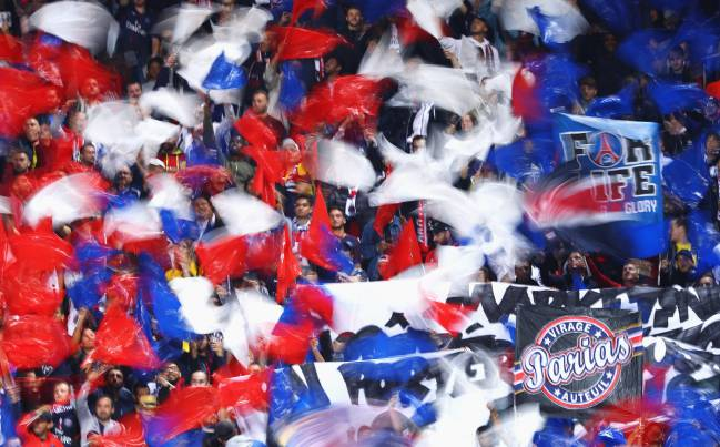 Psg Real Madrid Psg Fans Display Fuck Madrid Banner At The Parc Des Princes As Com