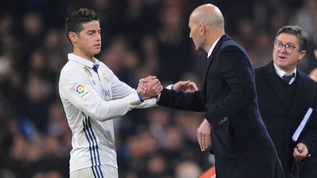 Idol | James didn't get the love he had hoped from Zidane.