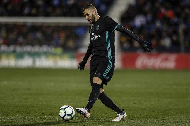 Karim Benzema on the ball against Leganes.