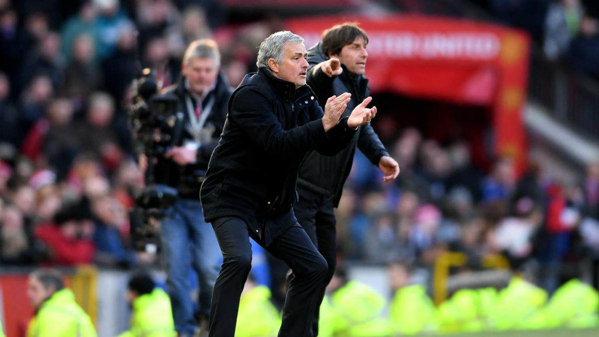 Mourinho v Conte: All smiles and handshakes on the touchline as feud cools