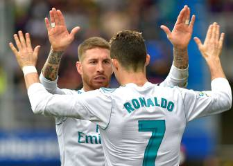 Ronaldo brace sees Real Madrid past brave Eibar