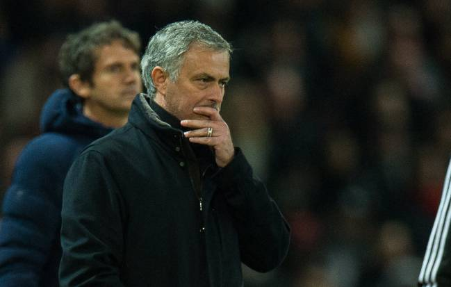 Manchester United manager Jose Mourinho during the Sevilla defeat at Old Trafford.