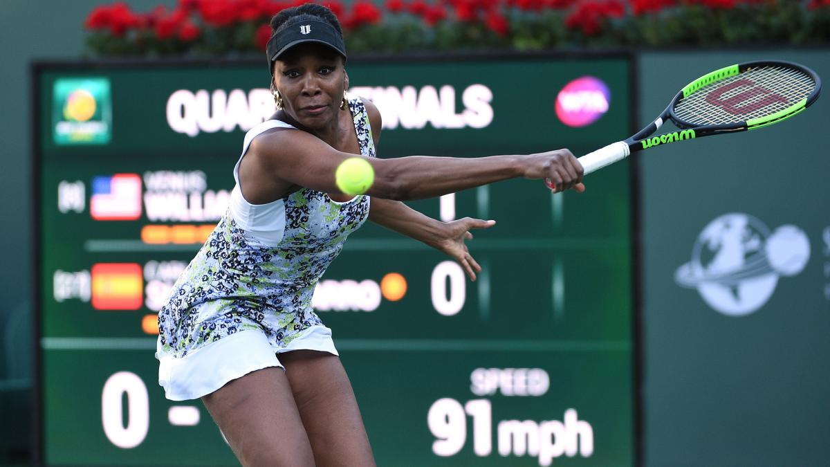 Venus into Indian Wells semis for first time since 2001