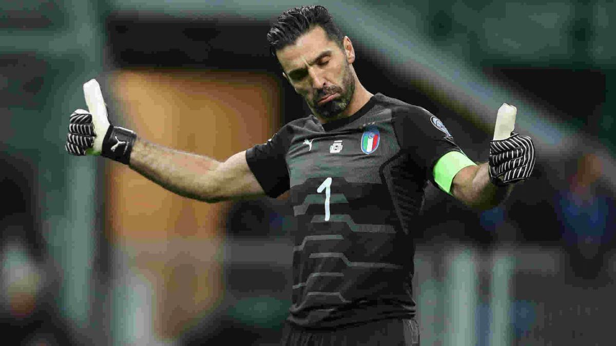 Buffon to play on for Italy as Di Biagio calls up uncapped duo