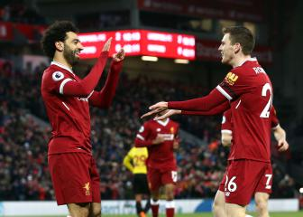 Salah can push on to Messi's level - Robertson