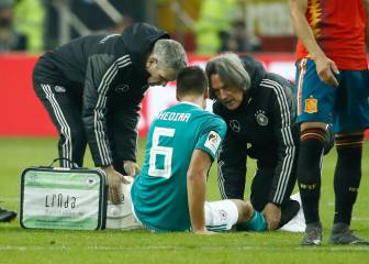 Juventus' Sami Khedira injured in Germany Spain friendly