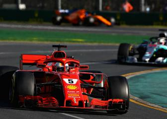 Vettel wipes smile off Hamilton's face in Melbourne