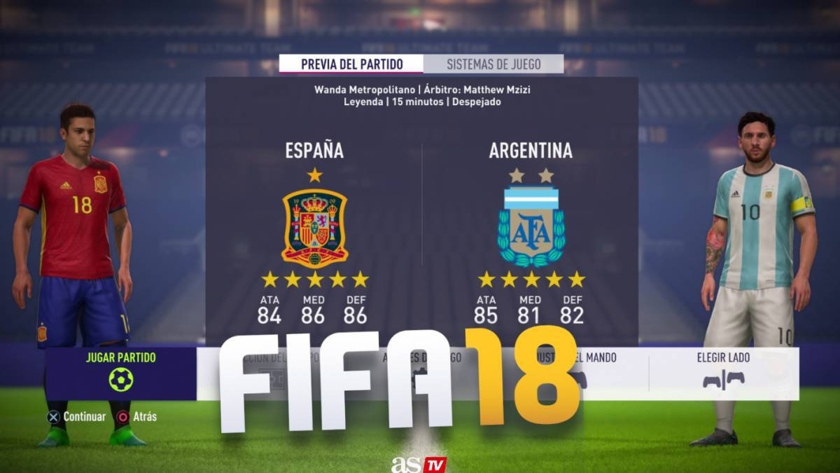 FIFA 18: Who wins Spain vs Argentina simulation?