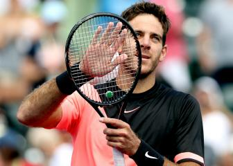 Del Potro wins 14th straight match as Cilic falls in Miami
