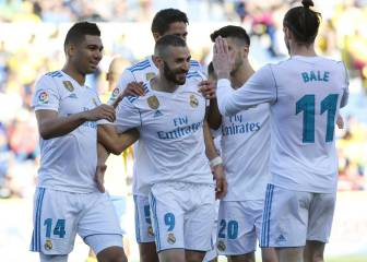 Bale, Benzema get their day in the sun as Real roll Las Palmas