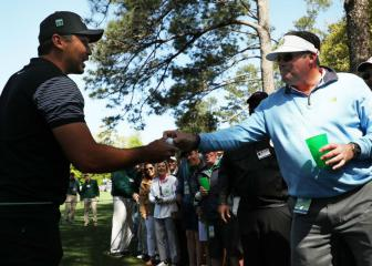 Jason Day quite literally puts it in the drink at Augusta