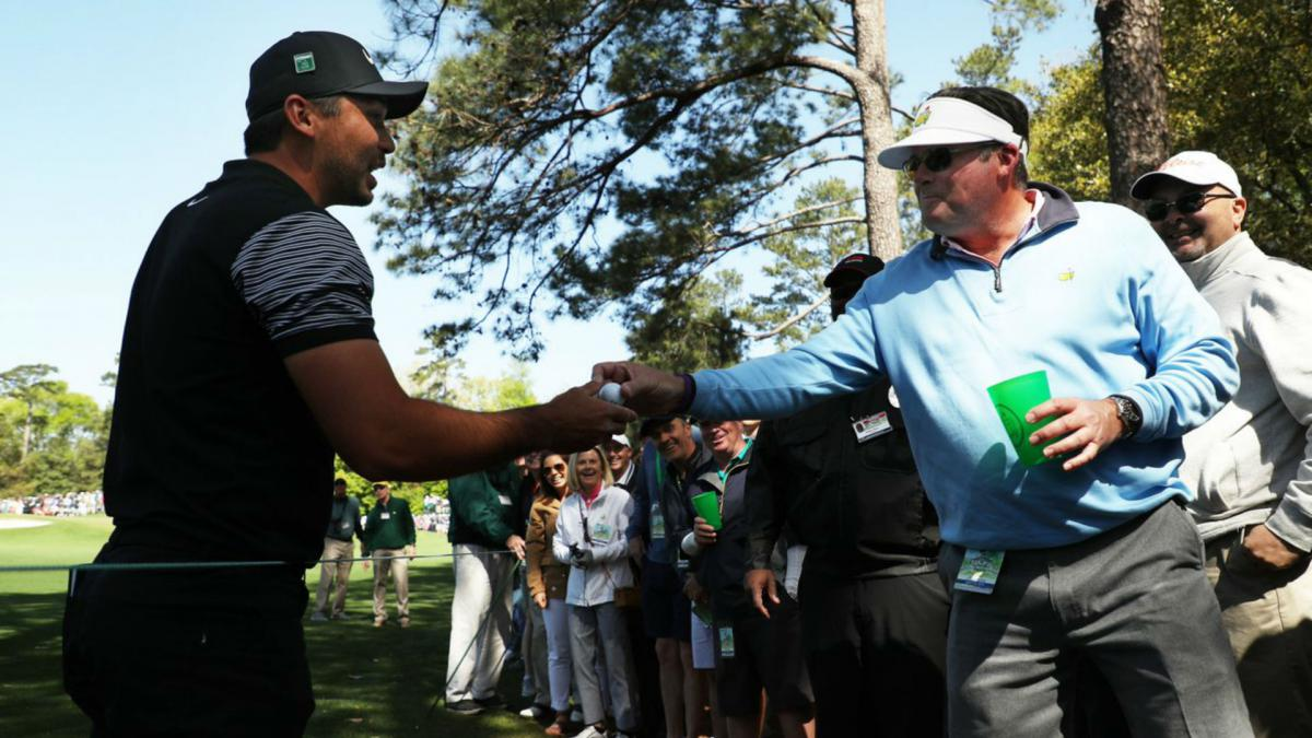 Jason Day quite literally finds the drink at Augusta
