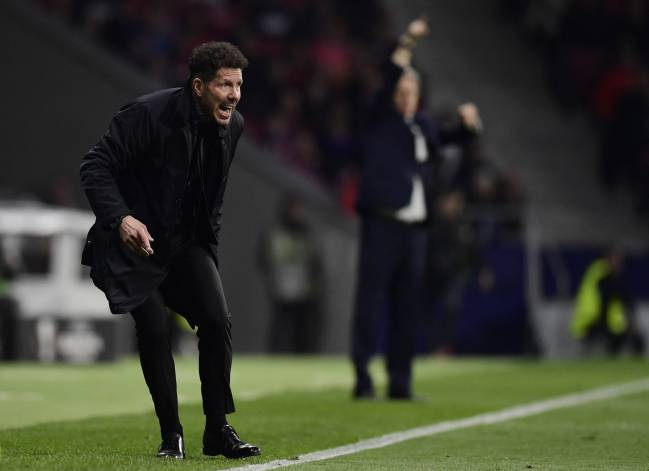 Playing chess | Atletico Madrid's Argentinian coach Diego Simeone with Sporting CP manager Jorge Jesús at the Wanda Metropolitano Stadium.