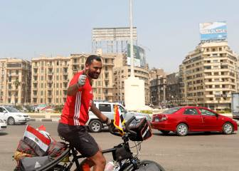 Egyptian gets on his bike for World Cup road trip