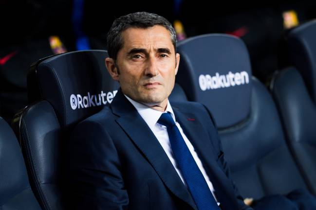 What's that I can smell? Barcelona head coach Ernesto Valverde.