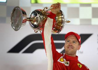 Vettel holds on to win again in Bahrain with Alonso in seventh