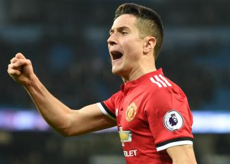 Man United's Herrera denies spitting on City crest