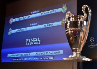 Bayern-Madrid, Liverpool-Roma as Arsenal face Atleti in semi draws