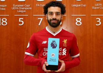 Liverpool's Salah first to Premier League Player of the Month treble