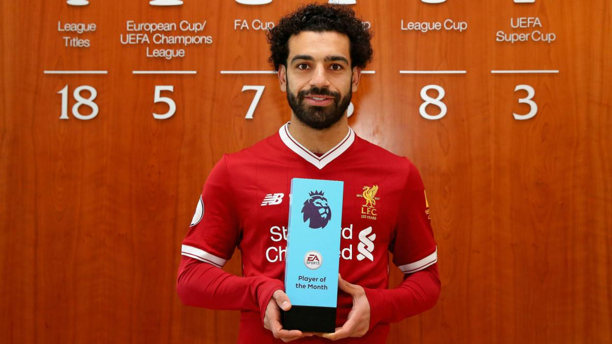 Salah claims first Premier League Player of the Month treble