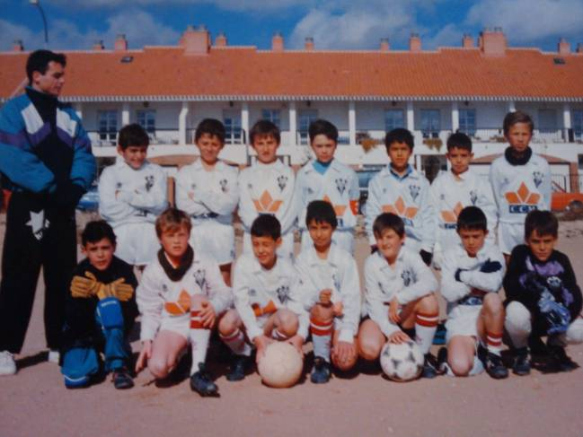 What it all began | Andrés Iniesta with the Albacete youth set up.