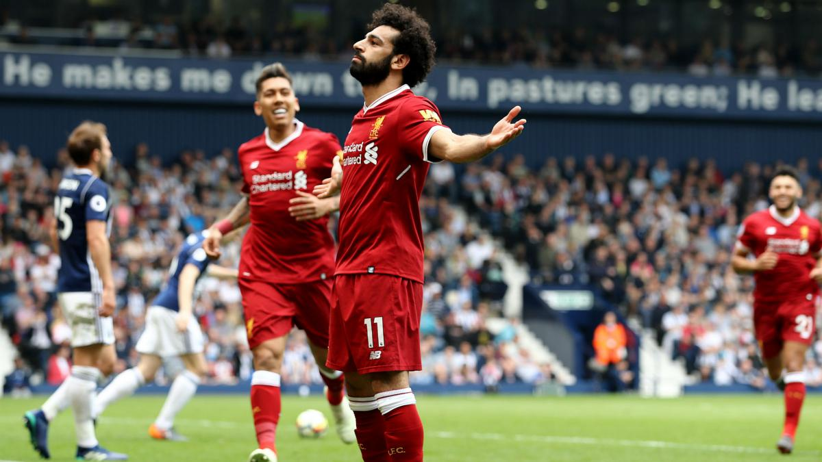 Salah finds the net again to equal Premier League scoring record