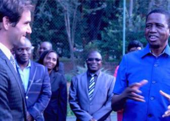 Roger Federer visits Zambia to check on his foundation