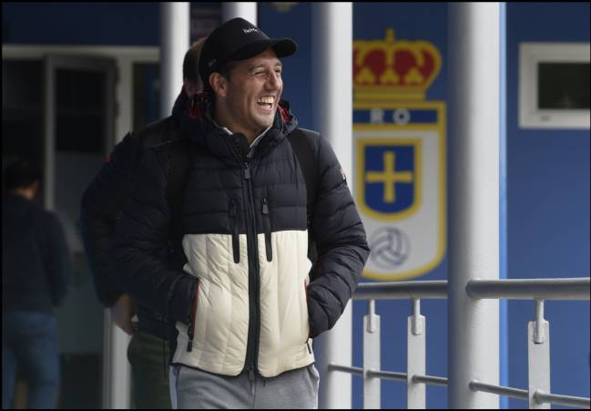 Back in business: Santi Cazorla in Oviedo today