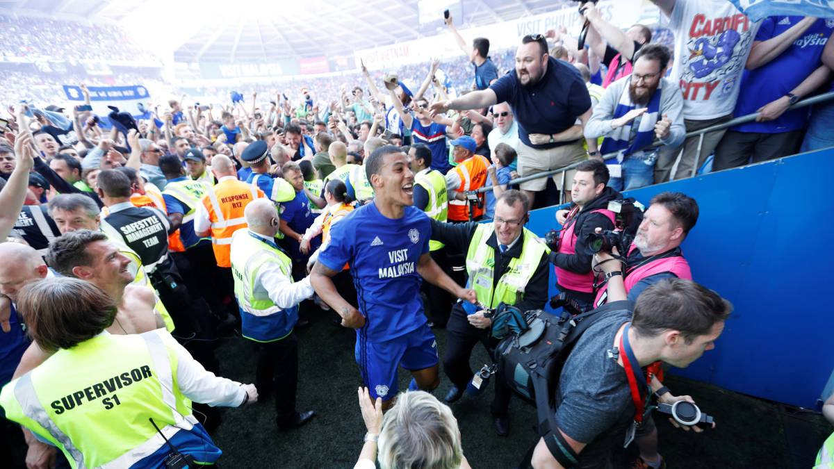 Cardiff City promoted to the Premier League