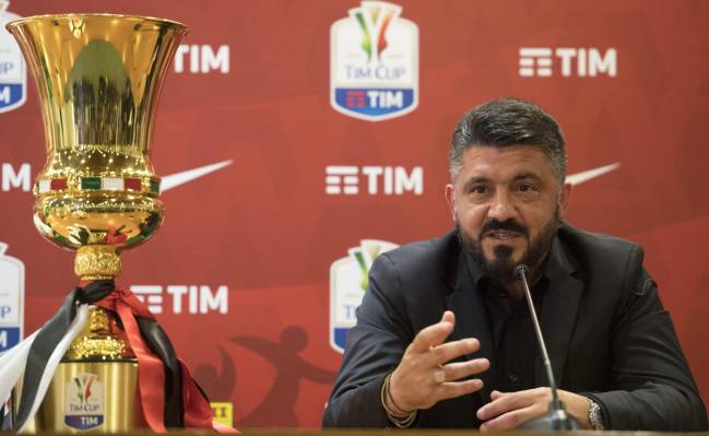 AC Milan manager, Gennaro Gattuso, speaks ahead of the Coppa Italia final against Juventus.