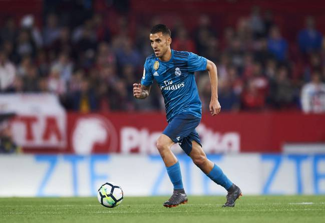 Dani Ceballos trying to make something happen for Real Madrid against Sevilla.