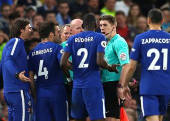 Chelsea charged over players crowding referee