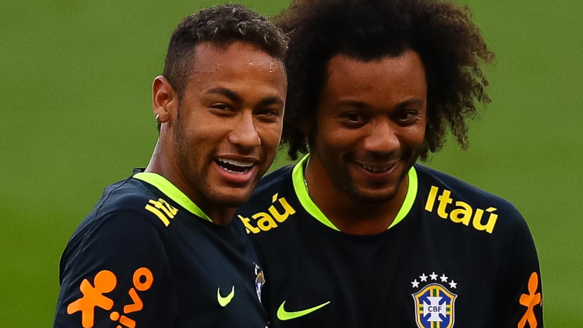 Marcelo: I'd love to play with Neymar at Madrid