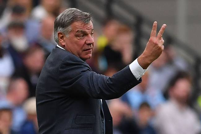 Sam Allardyce was sacked from the Everton post on Wednesday.