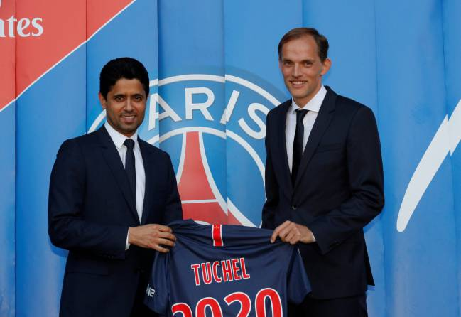 Nice touch | Paris St Germain Introduce new coach Thomas Tuchel.