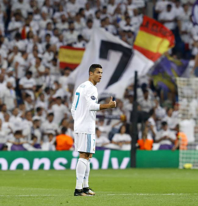 Feeling the love | Cristiano in front of an adoring crowd.